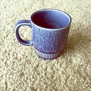 Vintage floral pottery mug